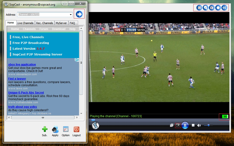 Tìm hiểu cách sử dụng sopcast xem bóng đá trực tiếp